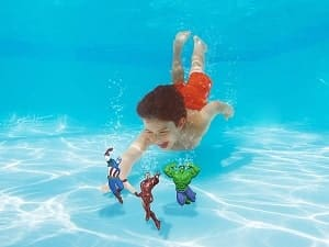 best pool toys , SwimWays Marvel Avengers Dive Characters_-min